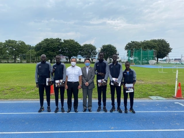 Visit to South Sudanese Athletes in Maebashi city